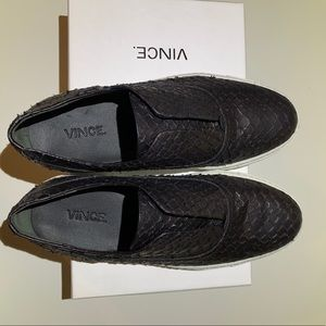 Vince Nelson Python Embossed Leather Slip On